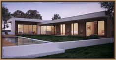 Fotos de fachadas de casas modernas de una planta #casasmodernasdeunaplanta