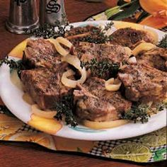 Slow-Cooked Lamb Chops Recipe -Chops are without a doubt the cut of lamb we like best. I usually simmer them on low for hours in a slow cooker. The aroma is irresistible, and they come out so tender they practically melt in your mouth! Slow Cooked Lamb Chops, Lamb Chops Slow Cooker, Crockpot Lamb, Lamb Loin Chops, Crock Pot Slow Cooker, Slow Cooker Recipes, Crockpot Recipes, Lamb Chops Oven, Lamb Shoulder Chops