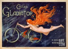 One of my fave framed prints! Cycles Gladiator, c.1895 Print