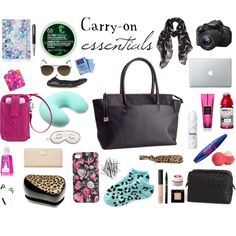carry on essentials by Emma Ostrander go on http://www.polyvore.com/cgi/set?id=110719165 to find out the products