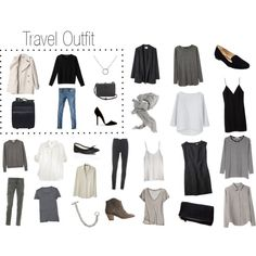 Packing + Travel Outfit... Chilly Eurotrip by keelyhenesey, via Polyvore
