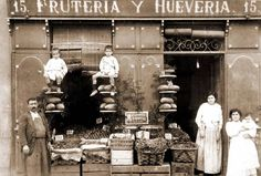 Comercio, Frutería y Huevería, #Madrid (1 de enero de 1900) Fruits and Eggs. 1900