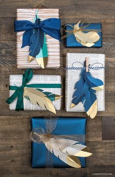 Make your own stunning gold tipped paper feathers with this downloadable pattern by handcrafted lifestyle expert Lia Griffith.