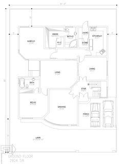 Basement House Plans, New House Plans, 10 Marla House Plan, Model House Plan, Home Design Plans, Architecture Plan, Building Plans, Pakistan, Maps