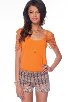 Shredder Tank Top in Orange $32 at www.tobi.com