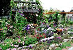 Cómo diseñar un jardín campestre