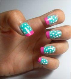 Decoración y diseños de uñas - 20 diseños de uñas con puntos   Decoración elegante - #decoracion #uñas #nail #design #nailart