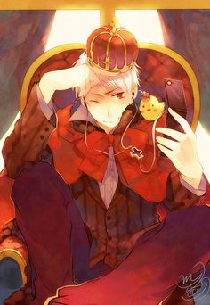 Prussia and even little gilbird has a crown! So cute!!! ^__^