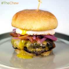 Bacon Egg  Cheese Burger by Michael Symon! #TheChew