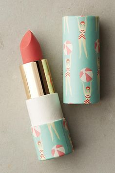 The Artist's Studio Hydrating Lip Tint Coral Rose. Artwork by Brighton artist, Lou Taylor. Love the colour and the design on the lipstick case. Cute Lipstick, Perfect Lipstick, Lipstick Tube, Lipstick Shades, Lipstick Colors, Coral Lipstick, Mac Lipstick Swatches, Mac Lipsticks, Pink Sangria