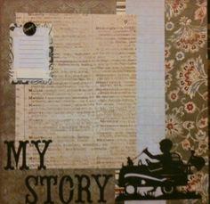 My Story Boy Readymade Genealogy Scrapbook Page Set by Rockester | eBay