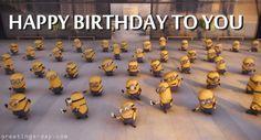 Happy Birthday Minions - http://greetings-day.com/happy-birthday-minions.html