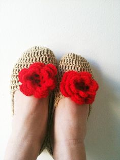 FREE SHiPPiNG   Healthy Booties Home slippers Dance by NesrinArt, $18.00