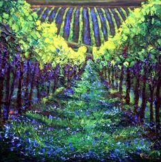 Spring Vineyard - Season's Series  painting by artist Jennifer Vranes