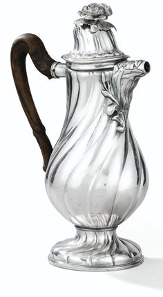 A BELGIAN SILVER COFFEE POT, LIÈGE, 1781-1782, MAKER'S MARK DIFFICULT TO READ PROBABLY FOR GILLES-JOSEPH DUPONT