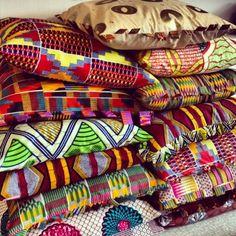 African print cushions