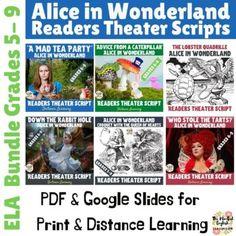 Alice in Wonderland Bundle - Readers Theater Scripts - Digital Activities
