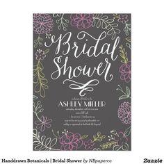 Handdrawn Botanicals | Bridal Shower