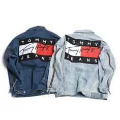"""Tommy Hilfiger"" Women Men Lover Denim Cardigan Jacket Coat from charmvip. Shop more products from charmvip on Wanelo."