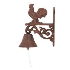 Rooster cast iron door bell