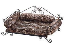 Safari Leopard Print Pet Bed Metal Frame Sofa-Style Sm/Med Dog **LAST ONE** NIB