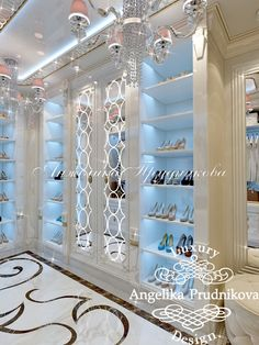 Дизайн интерьера женской гардеробной в стиле Ар Деко Попов Проезд. Фото 2016 - Дизайн гардеробной