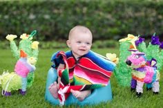 "Here are a few of my favorites from Sawyer's 4 month ""Cinco de Mayo"" themed session.Be sure to check out his 1 month, 2 month and 3 month sessions. :)"