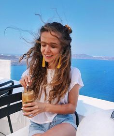 Travel to Santorini, Fira Santorini, Dreadlocks, Hair Styles, Travel, Beauty, Hair Plait Styles, Viajes, Hair Makeup, Hairdos