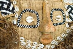 Handmade antique african mask, Ndebele tribe