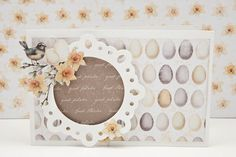 Card with Papirdesigns new Easterpaper