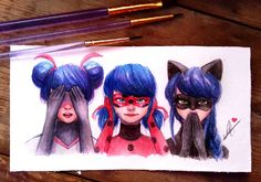 🙈🙉🙊 What is your favorite design of this? .  Perhaps in the near future I will again draw on paper. I had a small problem with a graphics… Ladybug Comics, Miraclous Ladybug, Lady Bug, Adrien Agreste, Pictures, Amazing, Cartoon, Bugaboo, Doodle Drawings
