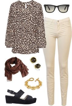 """""""cream jeans   outfit three"""" by boxandbrownie on Polyvore"""