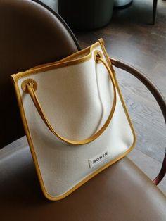 [MONEN모넨]SQUARE BAG ETOFF My Bags, Purses And Bags, Stil Inspiration, Sacs Design, Fabric Bags, Fashion Bags, Bag Accessories, Leather Bag, Ideias Fashion