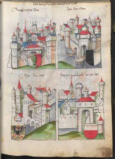 Grünenberg, Konrad: Das Wappenbuch Conrads von Grünenberg, Ritters und Bürgers zu Constanz um 1480 Cgm 145 Folio 36