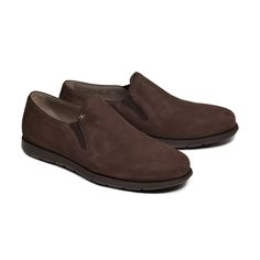 Bespoke slip on by Aldo Bruè. Casual and confort brown suede with brown sole. Your Shoes, Brown Suede, Aldo, Bespoke, Your Style, Slip On, Loafers, Casual, Fashion