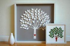 Nghệ thuật hơn nữa, chủ nhân của đám cưới còn muốn những lời chúc phúc của khách mời được tạo thành một tác phẩm nghệ thuật. Trong trường hợp này, mỗi chiếc lá trên chiếc cây xinh xắn này là một lời chúc phúc dành cho cô dâu chú rể.