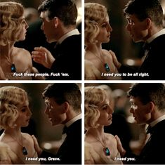 Peaky Blinders Thomas Shelby and Grace Burgess Peaky Blinders Grace, Peaky Blinders Series, Peaky Blinders Thomas, Peaky Blinders Quotes, Cillian Murphy Peaky Blinders, Tv Show Quotes, Film Quotes, Movies And Series, Tv Series