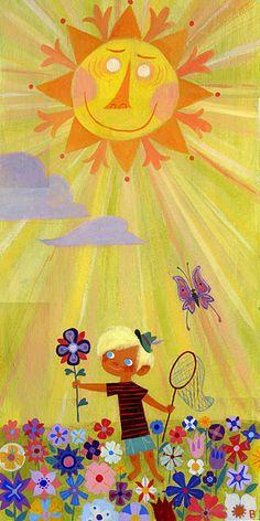 """""""One Golden Sun"""" illustration by Brigette Barrager."""