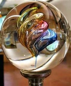 Glass Sphere Paperweight   Glass Paperweights