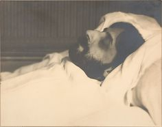 Marcel Proust on His Death Bed by Man Ray