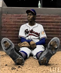 "Leroy ""Satchel"" Paige was a right-handed pitcher who played in the Negro League as well as in Major League Baseball, though he didn't play in the major leagues until the age of 42. ""Satchel"" Paige, was named all-time outstanding player by the National Baseball Congress (January 30, 1965). Stars such as Joe DiMaggio, Bob Feller and others praised Paige as the best they had ever seen. He was the first player from the Negro League to be elected into the Baseball Hall of Fame in 1971."