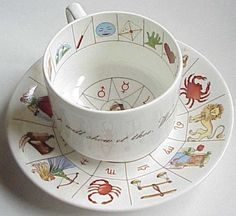 another Taltos fortune cup and saucer, this set by Royal Kendal England