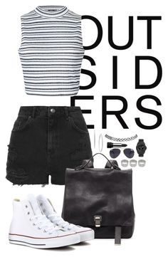 """""""Outsiders"""" by goldenhippy on Polyvore featuring Topshop, Proenza Schouler, Ally Fashion, Converse, Vince Camuto, NLY Accessories, ASOS, Charter Club, Kat Von D and Wet Seal"""
