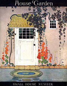 Vintage Magazine Cover - house and garden