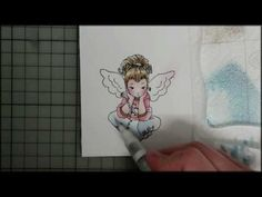▶ Stamping & More #14 - Colouring a stamped image with Distress inks - YouTube