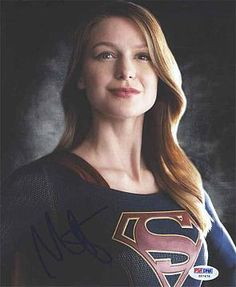 Melissa Benoist Supergirl Signed 8x10 Photo Certified Authentic PSA/DNA