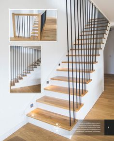 Discover recipes, home ideas, style inspiration and other ideas to try. Staircase Design Modern, Stair Railing Design, Home Stairs Design, Stair Decor, Modern Stairs, Interior Stairs, Home Interior Design, House Design, Railings