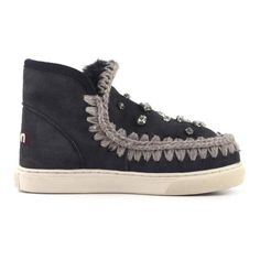 MOU Mini Eskimo Sneaker With Rhinestones. #mou #shoes #sneakers