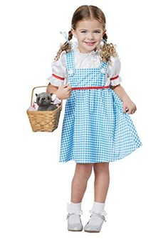 Toddler and Girls Dorothy of Oz Costume Wizard of Oz Costumes Little Girl Costumes, Kids Costumes Girls, Toddler Costumes, Cute Costumes, Halloween Costumes For Girls, Halloween Kids, Disney Halloween, Halloween 2017, Halloween Party
