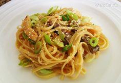 Tagliolini s arašidovým maslom (fotorecept) - Recept